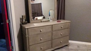 Dresser, nightstand and bed frame for Sale in Albuquerque, NM