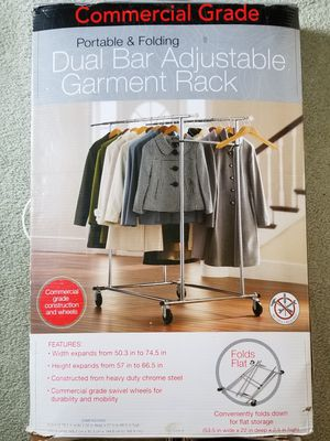 Dual Bar Adjustable Garment Rack for Sale in Herndon, VA