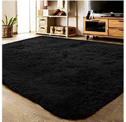 Brand New | Ultra Soft Indoor Modern Area Rugs Fluffy Living Room Carpets for Children Bedroom Home Decor Nursery Rug 5.3x7.5 Feet, Gray for Sale in Lutherville-Timonium,  MD