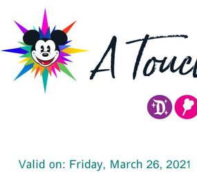 TICKETS - A TOUCH OF DISNEY - FRIDAY 3/26 for Sale in Rancho Palos Verdes,  CA