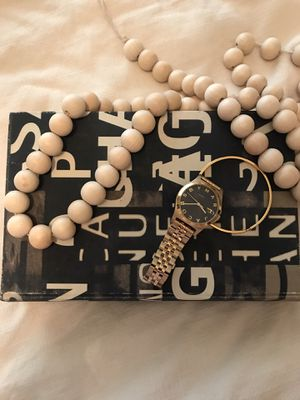 Black Gold Marc Jacobs watch and gold bracelet for Sale in Ontario, CA