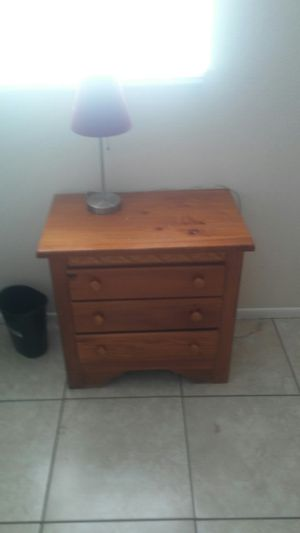 2 night stands king size bed frame walker shower chair matching love seat and couch and desk for Sale in Holiday, FL