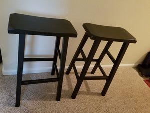 Wooden Bar Stools (2) Chapel Hill for Sale in Chapel Hill, NC