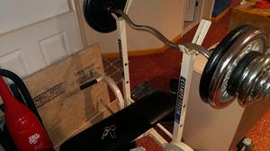Bench with weights for Sale in Springfield, VA