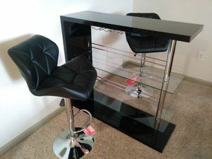 BRAND NEW 3-PC HIGH GLOSS BAR SET! DELIVERY & ASSEMBLY INCLUDED!!! for Sale in Atlanta, GA