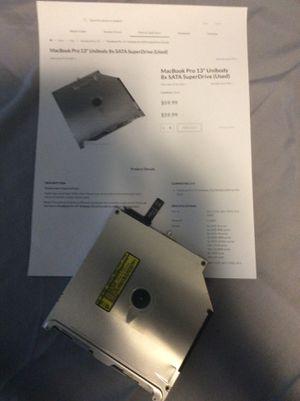 MacBook 💻 Pro 13 unibody 8 Sata super Drive for Sale in Las Vegas, NV