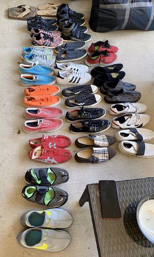 Mens shoes! Most size 11, a couple 10.5. Adidas, Lacoste, Polo, Burberry, Aldo, Puma, Converse, Nike for Sale in Tampa, FL