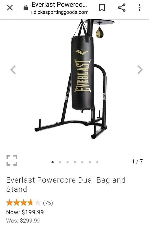 Boxing bag and weights
