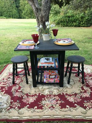 Updated custom dining table set - delivery available for Sale in Poulsbo, WA