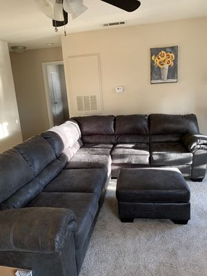 Ashely Furniture Bladen 3 piece sectional couch with ottoman for Sale in Cary, NC