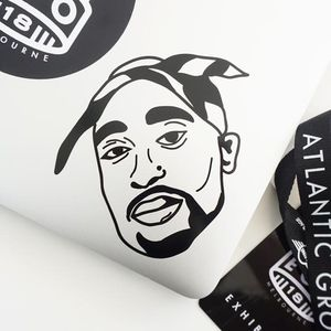 Tupac Vinyl Decal Sticker for car truck window windshield laptop hydroflask for Sale in Las Vegas, NV