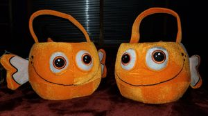 Nemo Fish Baskets ($10 each). Great for storage of small kid's toys (or Trick or Treat) for Sale in Norfolk, VA