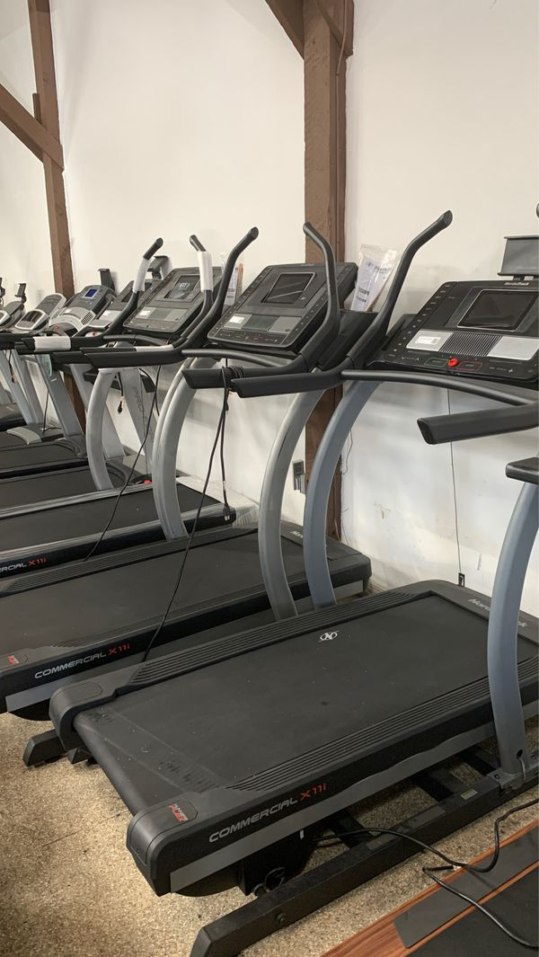 Incline Trainers! Inclines up to 40%. Interactive classes and hiking / running trails!