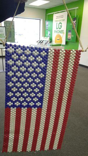 Beaded US flag banner for Sale in Hampton, VA