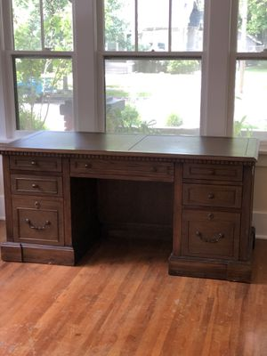 Gorgeous solid wood desk for Sale in Wichita, KS