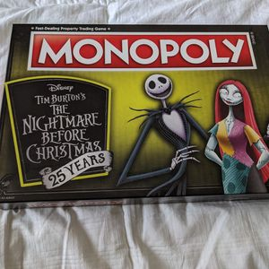 Monopoly The Nightmare Before Christmas 25 Year Anniversary Edition for Sale in San Luis Obispo, CA