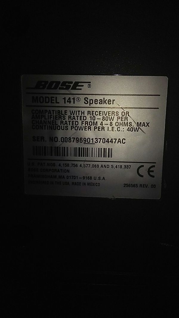 Bose model 141