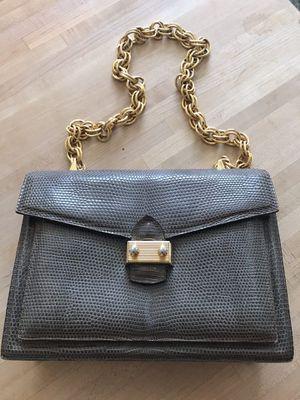 Finesse brand faux snake skin purse w heavy gold chain for Sale in Delray Beach, FL