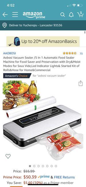 Vacuum food sealer for Sale in Lancaster, CA