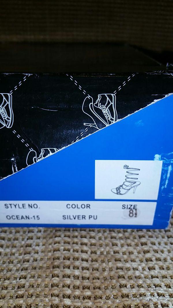 Shiekh Brand Silver High Heels size 8 1/2