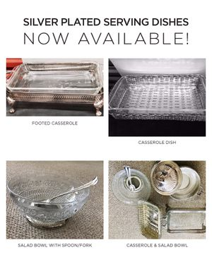 Silver Plated Casserole Dishes for Sale in Chicago, IL