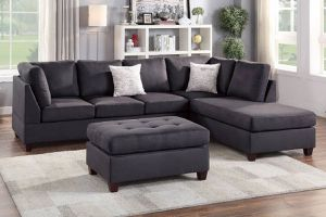 Gray Finish 3 Piece Sectional Sofa, $698.00. Ottoman included! Hot buy! In stock! Free delivery 🚚 limited time offer for Sale in Ontario, CA