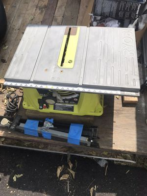 "Ryobi 13amp 13-1/4"" Table saw and stand for Sale in Encino, NM"