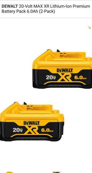 Baterías 20V 6.0 ah nuevas for Sale in Bailey's Crossroads, VA