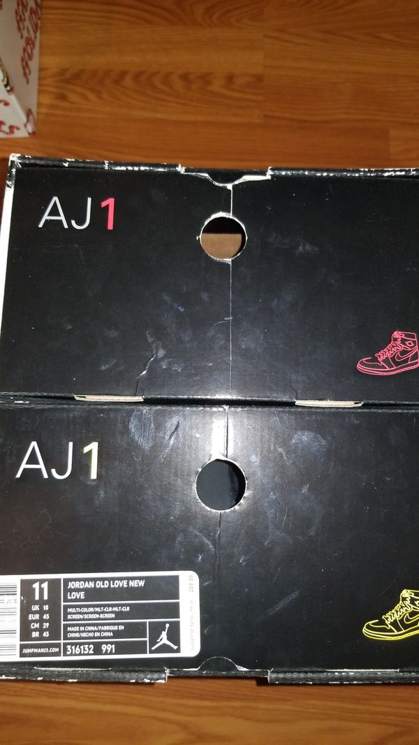 Jordan 1s old love new love pack size 11