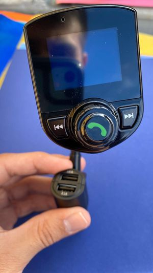 Bluetooth FM Transmitter Adapter Receiver- Works on Any Car - 24 Volts for Sale in Lynwood, CA