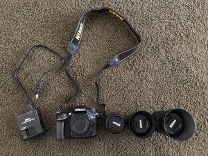 Nikon D7100 + 3 lenses for Sale in San Diego, CA