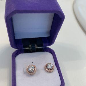 Rose Gold 4ct Earrings for Sale in Murrieta, CA