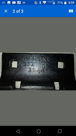 """(2) 1944 Antique Wheeling Railroad Crosstie Anchor Plates, Museum Quality 8"""" x 13"""" for Sale in Greensboro, NC"""