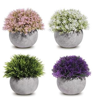 Fake Plants Mini Artificial Plants Potted 4 Pack for Sale in Las Vegas, NV