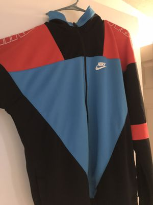 Nike red and blue full zip Med for Sale in Spokane, WA