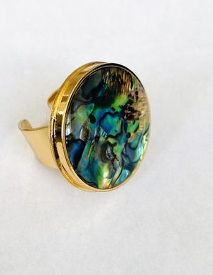 ring with natural nacre stone and avalom for Sale in Miami, FL