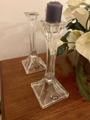Made in USA Crystal 24% lead Candle stick holders for Sale in Los Angeles, CA