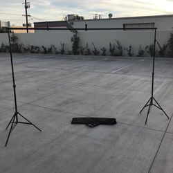 New in box max 10x7 Feet height and width Adjustable Backdrop Frame Kit Banner Stand Includes 3 Clamps and Carrying Bag for Sale in South El Monte,  CA