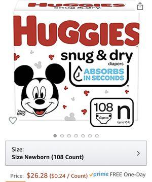 Huggies Newborn Diapers 108ct for Sale in Manassas, VA