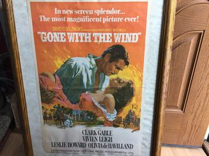 Gone with the wind poster for Sale in Peoria, IL