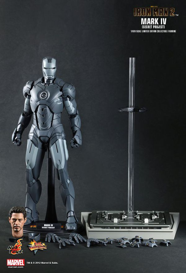 Hot Toys Iron Man 2 Mark IV Secret Project Figure
