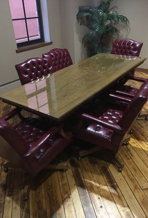 Antique hand crafted conference room table for Sale in Windsor, ON