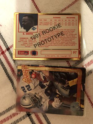 Dallas Cowboys Emmitt Smith 1991 Action Pack Rookie Prototype Card. I have 4 Available at $14 each 2 for $25 for Sale in Mesa, AZ