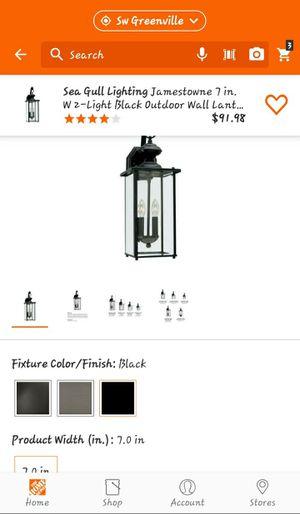 Seagull lighting 2 light outdoor wall Lantern for Sale in Clemson, SC