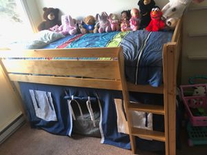 Loft bed/bunk bed with curtains for Sale in Wood Dale, IL