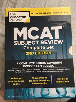 Princeton Review 2nd Edition MCAT subject review complete set for Sale in San Luis Obispo, CA