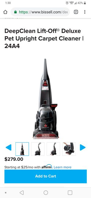 Bissell carpet cleaner with hose for car or funature for Sale in Palos Hills, IL