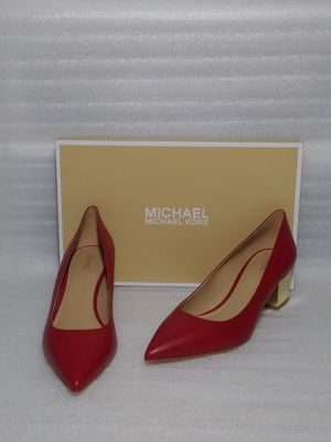 Michael Kors heels. Size 9 women's shoes. Red leather. Brand new in box for Sale in Portsmouth, VA