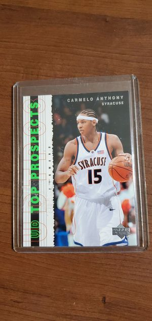 CARMELO ANTHONY ROOKIE CARD UPPER DECK for Sale in Phoenix, AZ