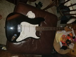 1 black & white Johnson electric guitar with bag for Sale in Sumner, WA